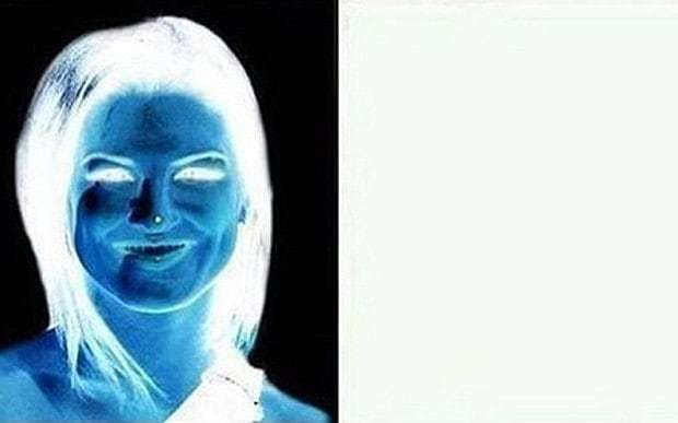 Do you see it? Optical illusion makes pretty woman appear on blank canvas