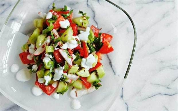 Indian cucumber and tomato salad recipe