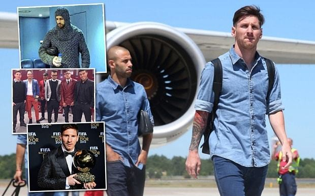 Barcelona players can't dress themselves