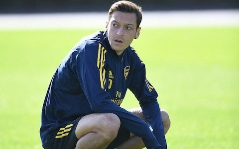 Unai Emery defends decision to rest Mesut Ozil for Arsenal's Europa League tie despite playing just 71 minutes of football this season