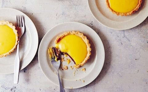 Passionfruit and orange curd tartlets with sumac and chocolate recipe