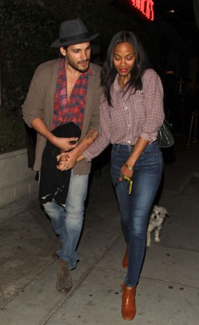 Marco Perego tattoos wife Zoe Saldana's face on his arm