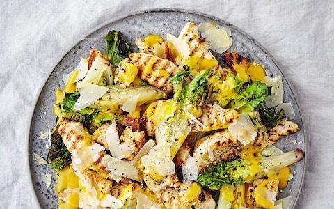 Hot chicken Caesar salad recipe