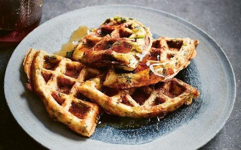 Bubble-and-squeak waffles recipe