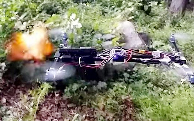 Handgun mounted on drone fires in mid-air in Connecticut park