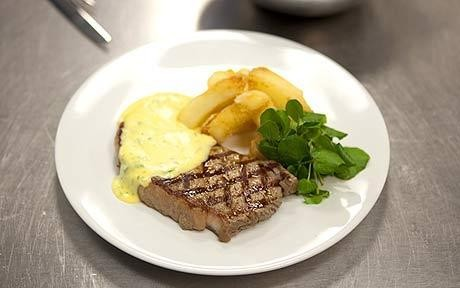Cooking with Aberdeen Angus beef: Sirloin steak and chips with béarnaise sauce
