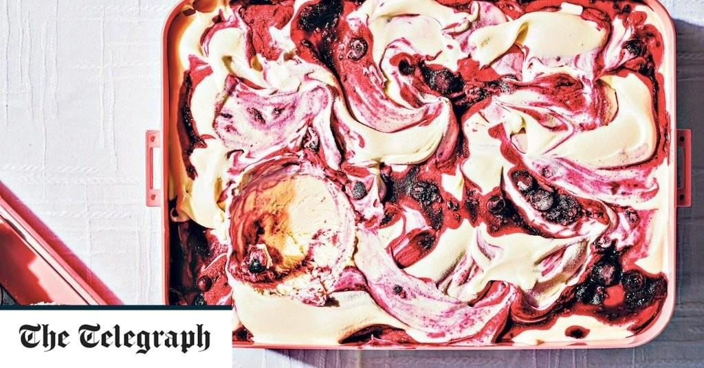 Blackcurrant condensed milk ice cream recipe