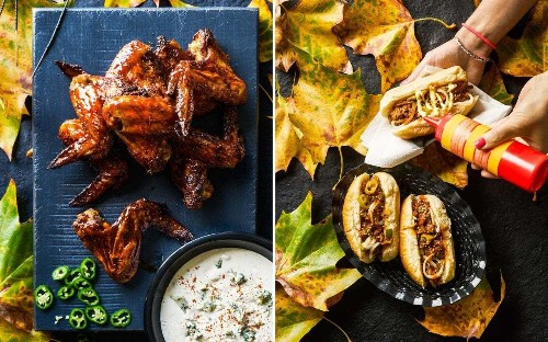 Buffalo chicken wings with blue cheese and Sloppy Joes: an Americana-inspired fireworks night feast