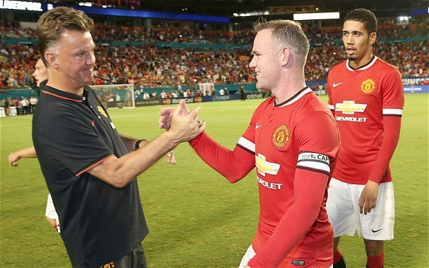 Manchester United manager Louis van Gaal drops Wayne Rooney captaincy hint as he nets in 3-1 win over Liverpool