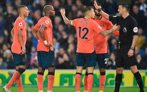 Premier League admit VAR decision to award Brighton penalty against Everton was wrong