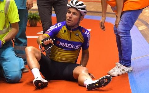 Mark Cavendish suffers fall as crashes overshadow opening night of Ghent Six
