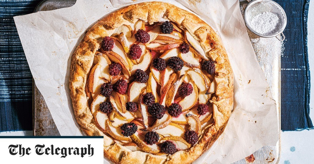 Pear and blackberry galette recipe
