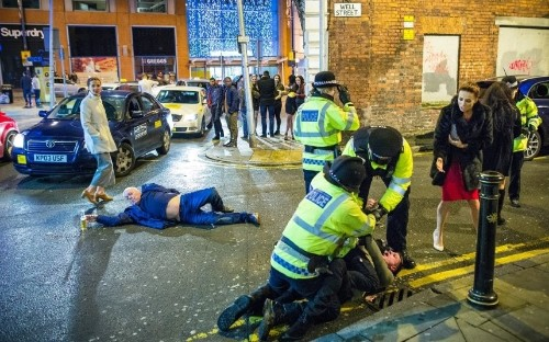 A heavy night; New Year's Eve revellers, in pictures