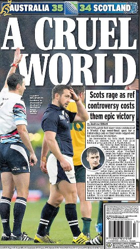 Referee Craig Joubert 'may have needed bathroom' after sparking fury by sprinting off the field at full-time in Australia vs Scotland