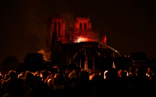 Notre-Dame cathedral ablaze: in pictures