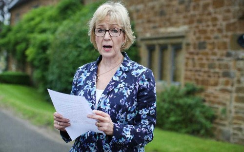 Andrea Leadsom reveals she has said sorry to Theresa May as she insists having children has no bearing on becoming Prime Minister