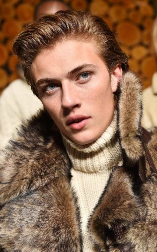Lucky Blue Smith brings Beatlemania scenes to Men's Fashion Week