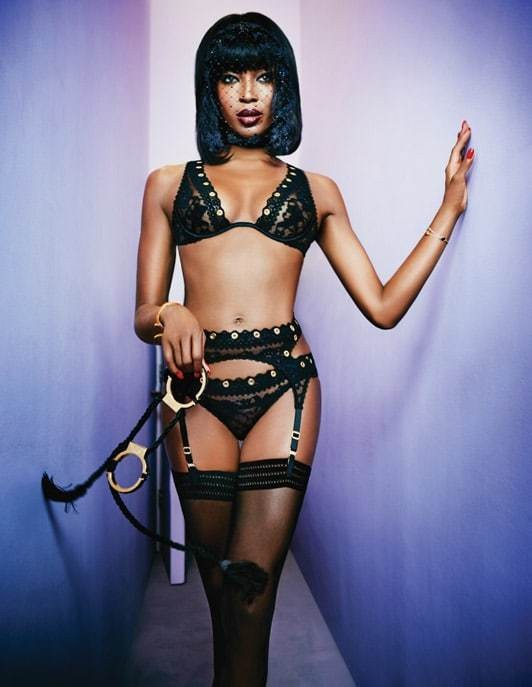 Naomi Campbell transforms into a femme fatale for Agent Provocateur