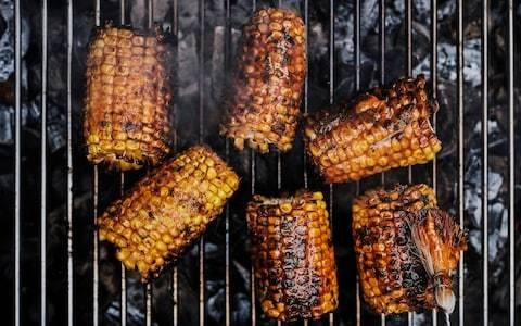 Sweetcorn grilled with smoked paprika butter recipe