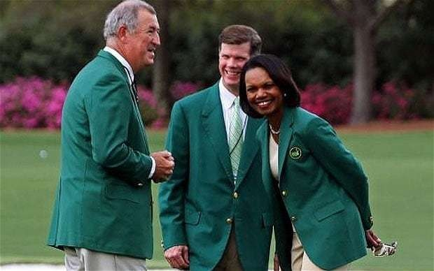 The Masters 2013: Condoleezza Rice shows that she is no token female member at Augusta