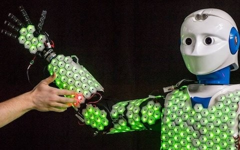 Scientists create sensitive robot that can 'feel' heat, cold and pain