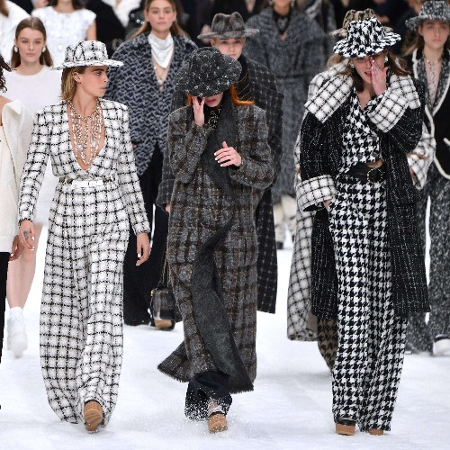 An emotional farewell: models cry on the catwalk at Chanel's first show since Karl Lagerfeld's death