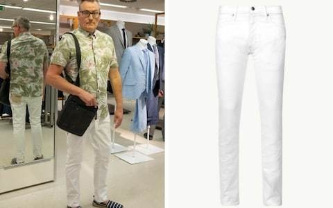 Dadbod dressing: does M&S really think middle-aged men will wear white jeans?