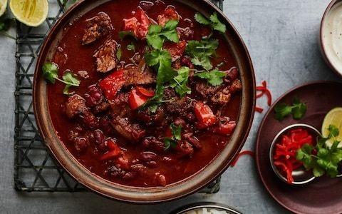 Chilli con carne with chocolate recipe