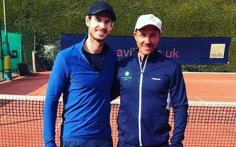 Andy Murray pictured on tennis court for first time since hip operation