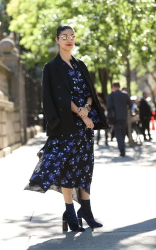 Shop the street style: How fashion editors make florals work for autumn