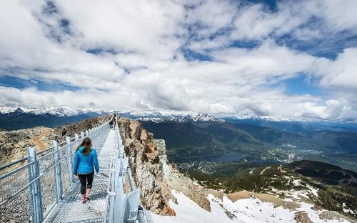 Canada's top ski resort opens vertigo-inducing suspension bridge at 2,000m