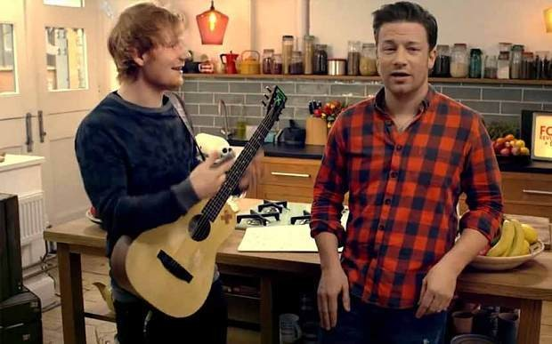 Jamie Oliver and Ed Sheeran rap for #FoodRevolutionDay