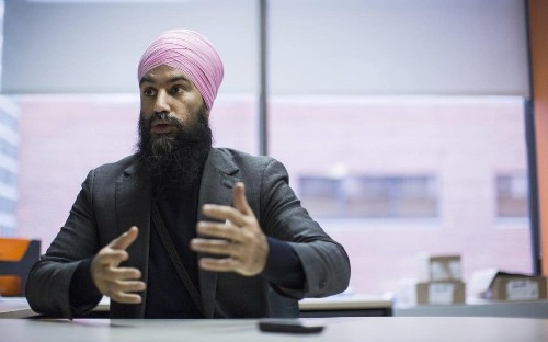 Canada's rising star Jagmeet Singh reckons he could take on Justin Trudeau in a vote - or on a wrestling mat