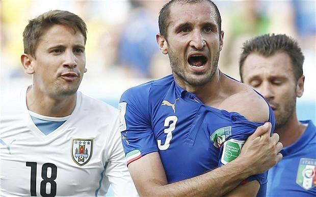 Luis Suarez faces disciplinary proceedings for biting Italy defender Giorgio Chiellini in World Cup clash