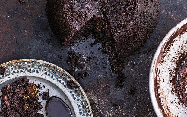 Chocolate and fig steamed pudding with chocolate sauce recipe