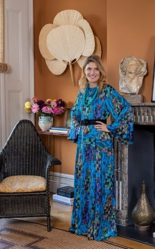 Colourful prints and velvet slippers: Martina Mondadori on her personal uniform