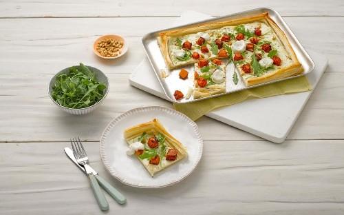 Delicious dinner idea: harissa and butternut squash tartlet