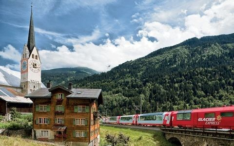 On board Switzerland's most luxurious (and spectacular) train journey