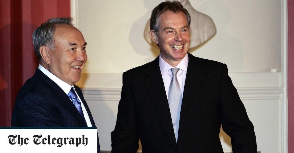 Tony Blair films video praising former Kazakhstan president for leadership