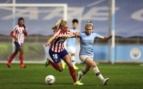 Toni Duggan's Atletico Madrid scramble late Champions League draw at Manchester City