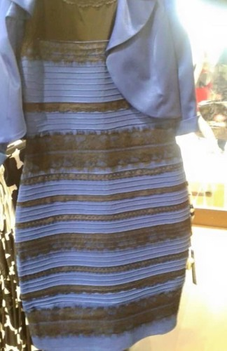 The dress is both blue and white
