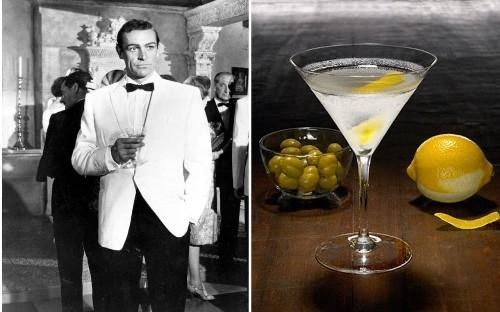 James Bond's drinking habits through the decades