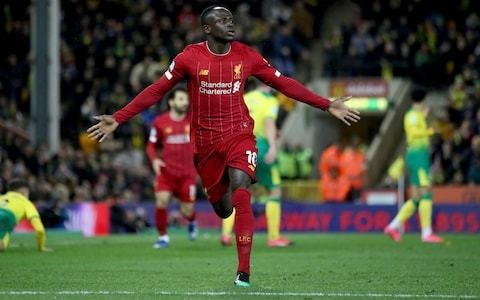 Sadio Mane extends Liverpool's lead to 25 points with late winner at Norwich