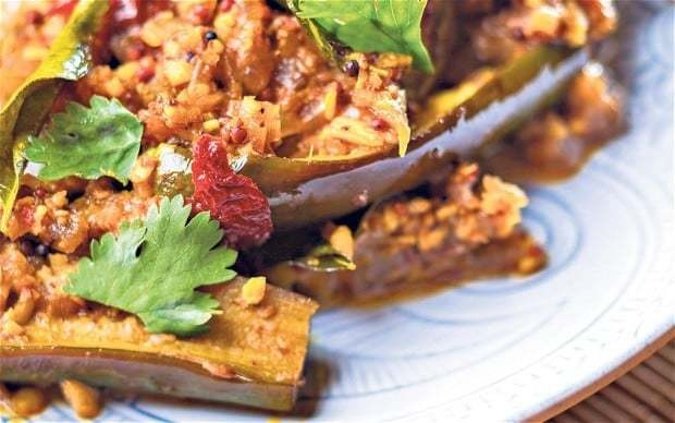 Hot and sour aubergine curry