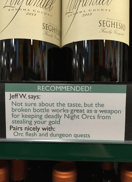 Honest wine labels tell you which wines 'go well with revenge'