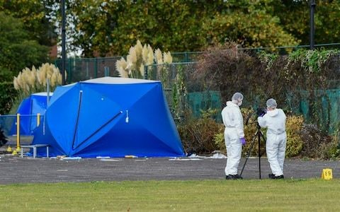 Two 15-year-olds arrested after teenager stabbed to death in Slough skate park