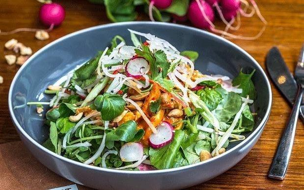 Spicy leftover turkey salad recipe