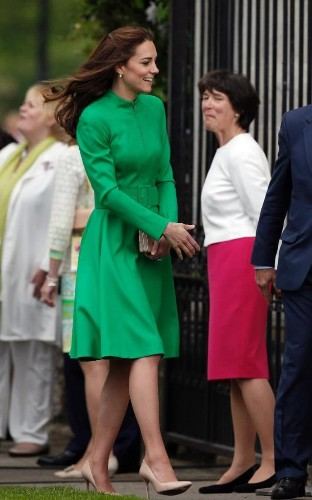 The Duchess of Cambridge turns to Princess Diana's favourite designer Catherine Walker for her Chelsea Flower Show outfit