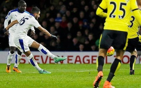 Watford 0 Leicester City 1, match report: Stunning Riyad Mahrez strike sends Leicester five points clear at the top