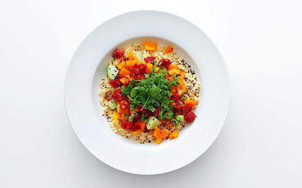 Chorizo, chervil and couscous salad recipe
